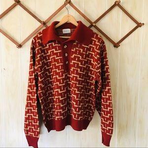 Vintage Funky Print Sweater